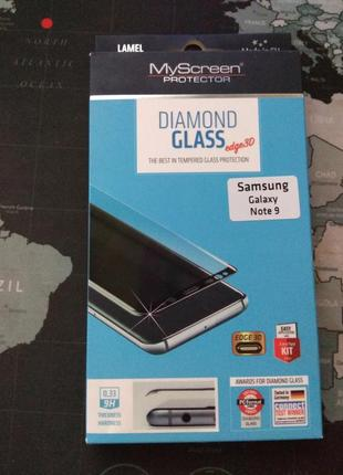 Защитная пленка-стекло myscreen 3d samsung galaxy note 9 black