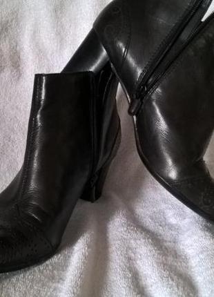 Кожаные ботильены туфли