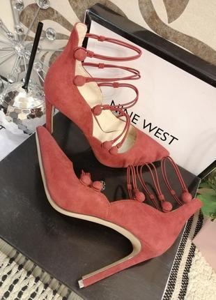 Туфли замшевые nine west