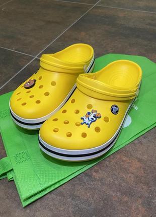 Crocsband желтые, crocs женские, летние сабо, сандали, медицинская обувь,кроксы.