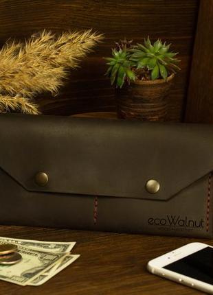 Кожаный женский кошелек лучший подарок для девушки мамы