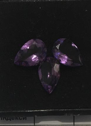 Подарочный набор, подарок  - аметист - ювелирный набор, ювелирные камни