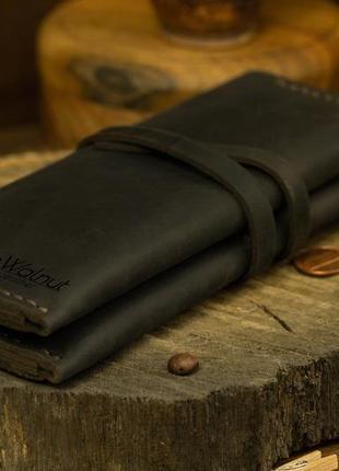 Стильный универсальный кожаный кошелек подарок мужчине женщине