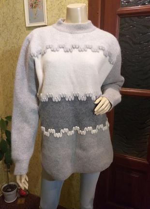 Ангоровый шерстыной свитер джемпер laurel