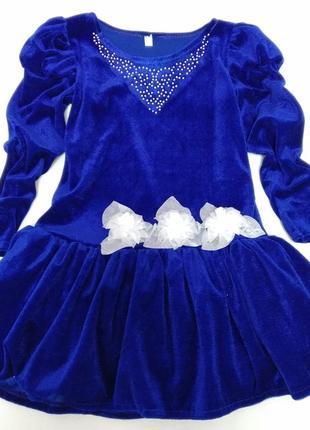 Красивое бархатное платье на девочку
