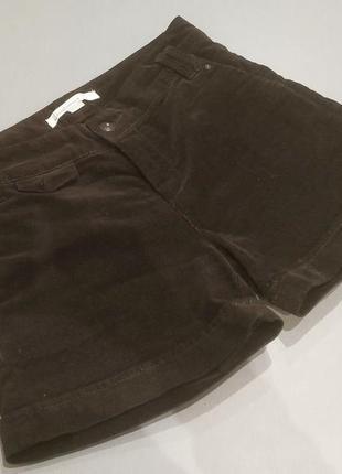 Короткие шорты вельветовые коричневые