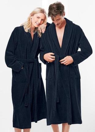 Шикарный махровый халат унисекс tcm tchibo