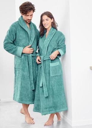 Шикарный махровый халат унисекс tcm tchibo германия