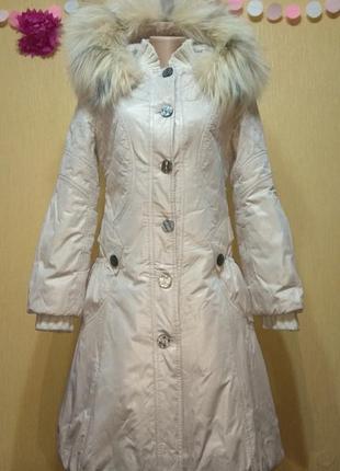 Перламутровое зимнее пальто