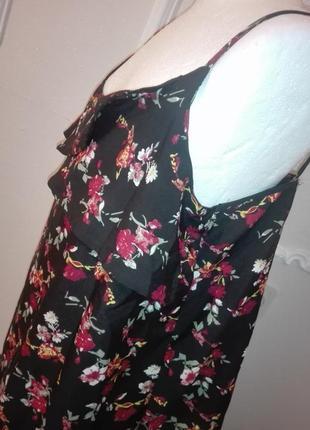 Цветочная майка блуза шифоновая