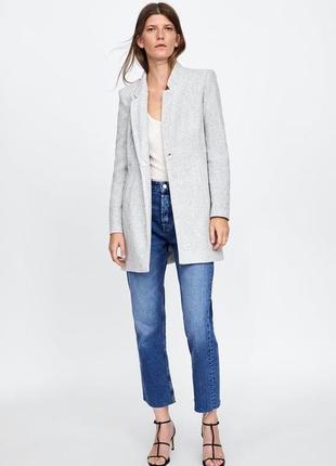 Трендовое новое шерстяное пальто тренч кардиган zara