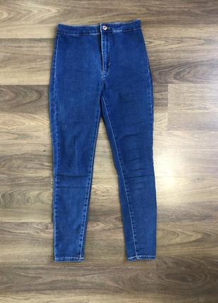 Стрейчевые джинсы с завышенной посадкой