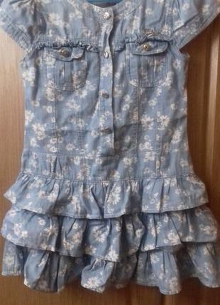 Платье из облегченного джинса