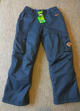 Лыжные мужские брюки no fear. цвет синий, размер м