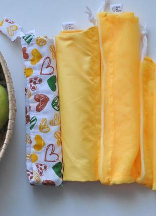 Комбінований набір мішечків набір торбинок комбинированный набор мешочков эко-мешочки