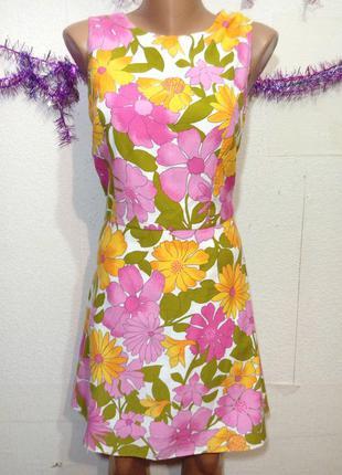 Платье коттоновое на подкладке р 12-14 holland