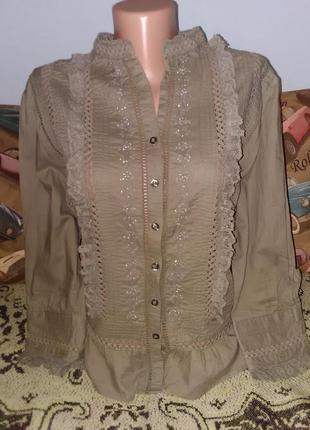 Фирменная рубашка- блузка