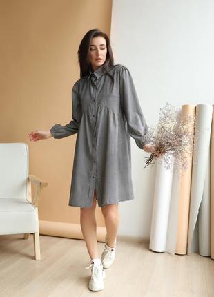 Модное женское платье оверсайз фасона на кнопочках с воротником! микро вельвет