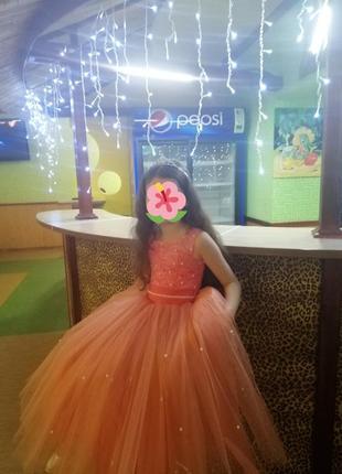Пышное нарядное платье