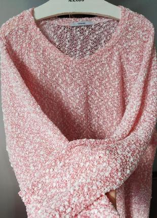 Шикарна ніжно рожева кофтинка в стилі oversize