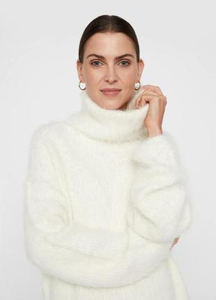 Пушистый стильный свитер кофта оверсайз vero moda zara hm