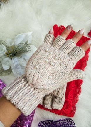 Стильні рукавички мінєтки трансформери tu