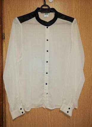 Блуза полупрозрачная с вставками