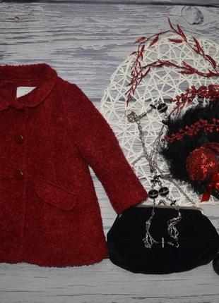 9 - 12 месяцев 80 см фирменное красивое пальто для девочки зара zara