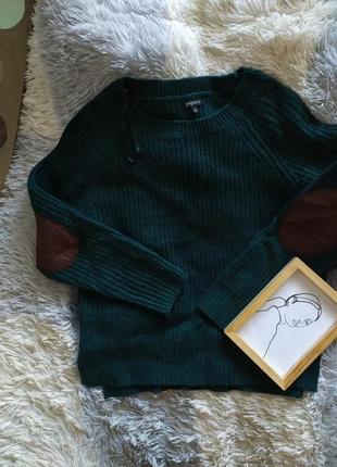 Светр свитер кофта вязанная заки нашивки базовая