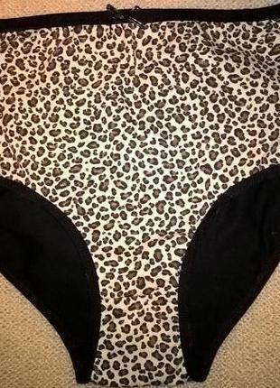Женские трусики с леопардовым принтом
