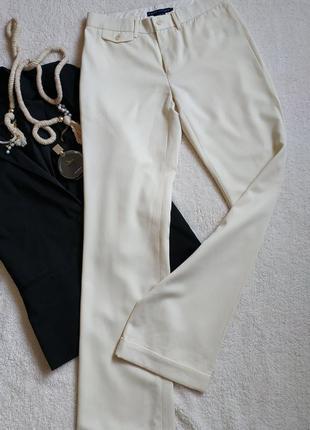 Классические брюки-палаццо от ralph lauren из тонкой шерсти/айвори