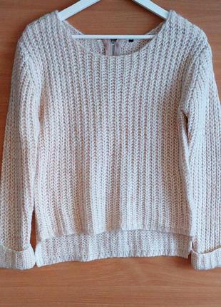 Объемный свитер в крупную вязку 🔥🔥🔥