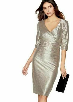 Блестящее вечернее платье миди
