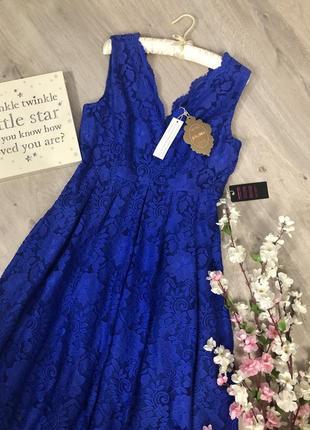 Очень шикарное кружевное вечернее платье, вечернее платье с вырезом