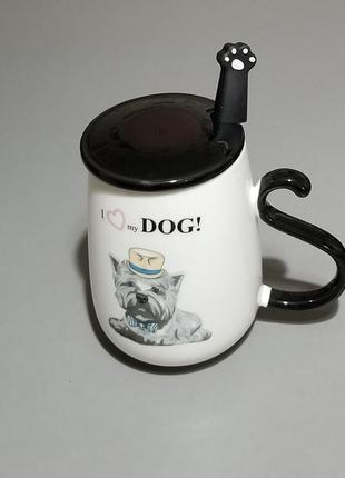 Чашка с изображением собаки породы йорк
