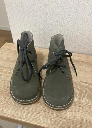 Очень крутые ботиночки из натуральной замши