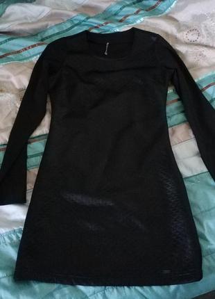 Платье черное cropp