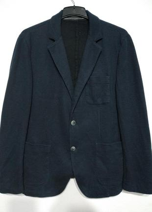 L xl 50 52 сост нов blue yachting 100% котон пиджак блейзер жакет мужской синий