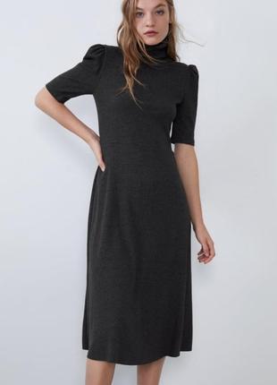 🔥 платье в рубчик zara
