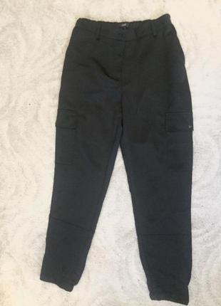 Модные атласные брюки на резинке внизу с карманами р -8,10 -s_m