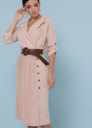 Платье с юбкой плиссе осень, зима, весна