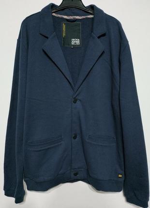 Xl 52 сост нов jack & jones пиджак жакет блейзер кардиган кофта на пуговицах мужской синий