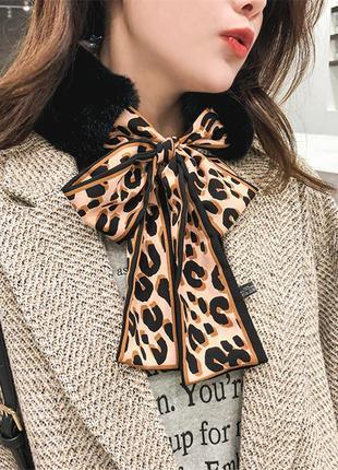 Шарфик платок на шею, на сумку , платки - ленточки для волос тренд года