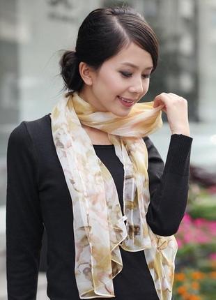 Шарфик платок на шею, на сумку , платки -  для волос тренд года