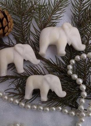 Слоны ссср 3 шт (мрамор) набор статуэткок слоников фигурка винтажный 50-е