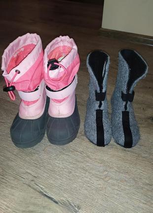Сапоги ботинки для девочки 27 рр columbia