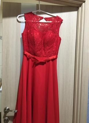Красное вечернее платье ❣️