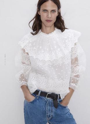 Красива блуза zara розмір xs,l