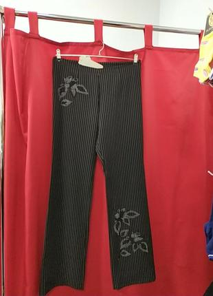 Классические брюки с бисером vicolo