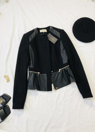 Теплая шерстяная куртка| косуха| кожанка